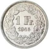 1 Franken / Silver / Non-current / 1875 - 1967