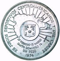 Dominican Republic / 1 Peso / 1974