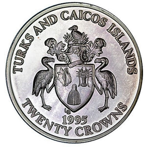 Turks and Caicos Islands / 20 Crowns / 1995