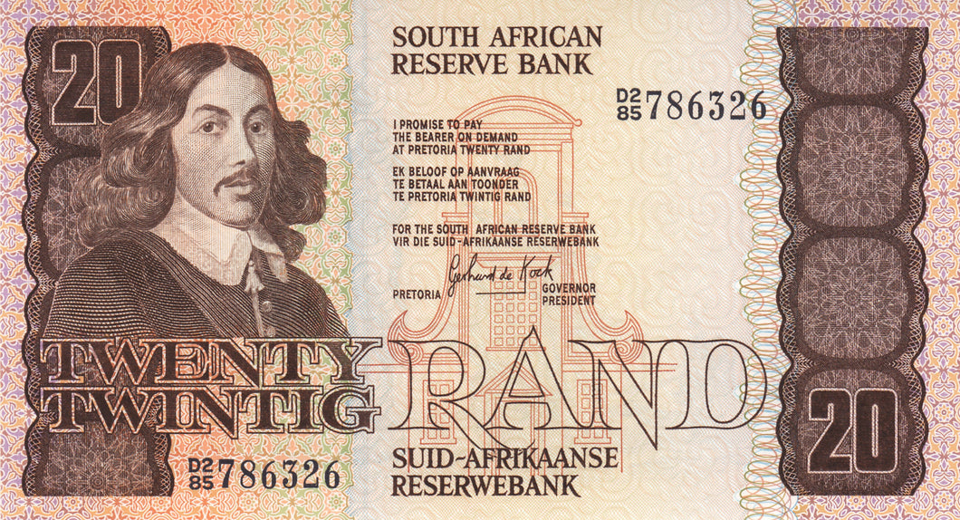 South Africa / P-121c / 20 Rand / ND (1982-85)