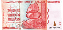 Zimbabwe P-89 20 Trillion Dollars