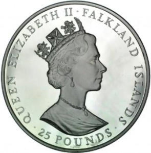 Falkland Islands / 25 Pounds / 1986