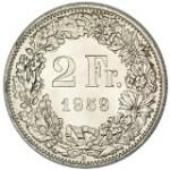 2 Franken / Silver / Non-current / 1874 - 1967