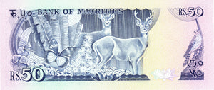 Mauritius / P-37b / 50 Rupees / ND (1986)