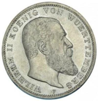 Germany / Württemberg / 3 Mark / 1912 F