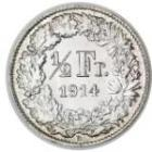 50 Rappen / Silver / Non-current / 1875 - 1967