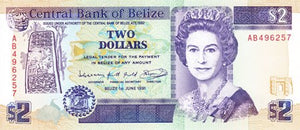 Belize / P-52b / 2 Dollars / 01.06.1991