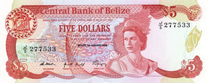 Belize / P-47b / 5 Dollars / 01.01.1989