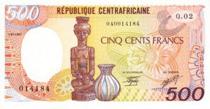 Central African Republic / P-14c / 500 Francs / 1.1.1987