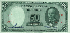 Chile / P-112 / 50 Pesos / ND (1947-58)
