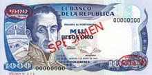 Colombia / P-430as / 1000 Pesos / 20.07.1983 / SPECIMEN