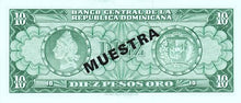 Dominican Republic / P-101s1 / 10 Pesos Oro / ND (1964-74) / SPECIMEN