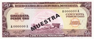 Dominican Republic / P-103s1 / 50 Pesos Oro / ND (1964-74) / SPECIMEN