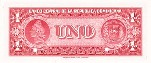 Dominican Republic / P-91s / 1 Peso Oro / ND (1962-63) / SPECIMEN