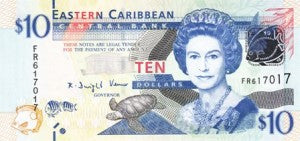 East Caribbean States / P-52 / 10 Dollars / ND (2012)