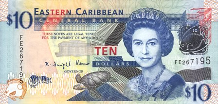 East Caribbean States / P-48 / 10 Dollars / ND (2008)