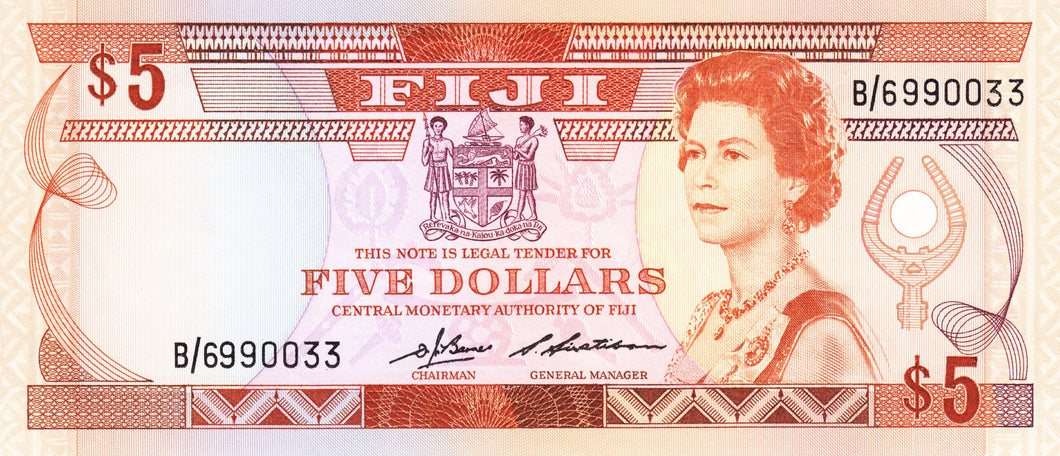 Fiji / P-083a / 5 Dollars / ND (1989)