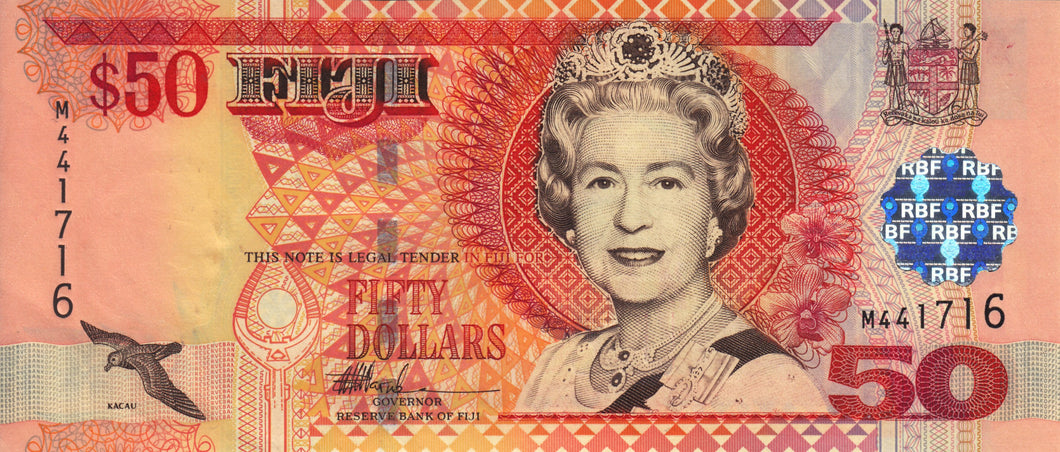 Fiji / P-108a / 50 Dollars  / ND (2002)