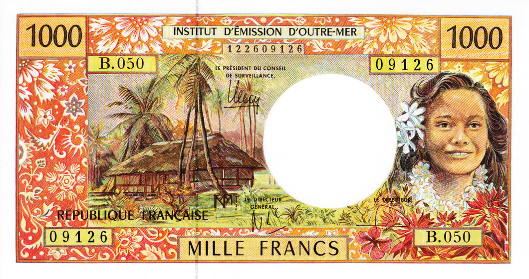French Pacific Territories / P-2l / 1000 Francs / ND (1996)