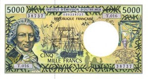 French Pacific Territories / P-3i / 5'000 Francs / ND (1996)