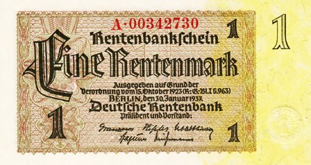 Germany / P-173b / 1 Rentenmark / 30.01.1937