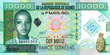 Guinea / P-45 / 10'000 Francs / 01.03.2010 / COMMEMORATIVE