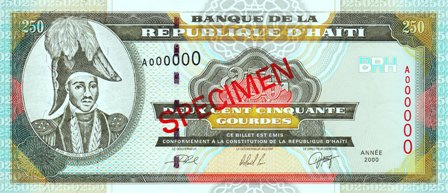 Haiti / P-269as / 250 Gourdes / 2000 / SPECIMEN