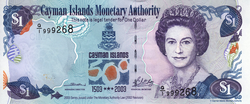 Cayman Islands / P-30a / 1 Dollar / 2003 / COMMEMORATIVE