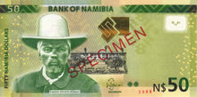 Namibia / P-13as / 50 Namibia Dollars / 2012 / SPECIMEN