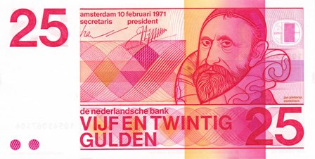 Netherlands / P-92a / 25 Gulden / 10.02.1971