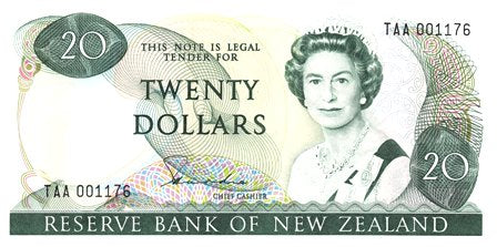 New Zealand / P-173a / 20 Dollars / ND (1981-85)