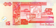 Belize / P-61b / 5 Dollars / 01.01.2002