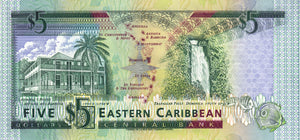 East Caribbean States / P-26a / 5 Dollars / ND (1993)