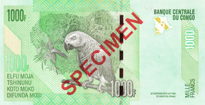 Congo Democratic Republic / P-101s / 1000 Francs / 02.02.2005 / SPECIMEN
