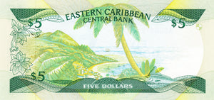 East Caribbean States / P-18a / 5 Dollars / ND (1985-88)