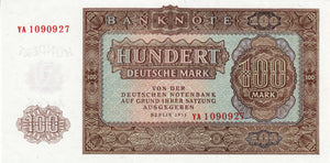 Germany Democratic Republic / P-21 / 100 Deutsche Mark / 1955 / REPLACEMENT