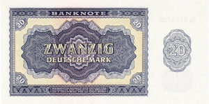 Germany Democratic Republic / P-19a / 20 Deutsche Mark / 1955