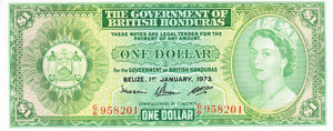 British Honduras / P-28c / 1 Dollar / 01.01.1973