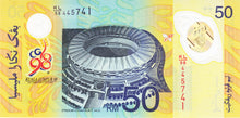 Malaysia / P-45 / 50 Ringgit / 1998 / COMMEMORATIVE / POLYMER-PLASTIC