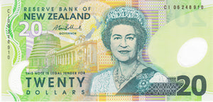 New Zealand / P-187b / 20 Dollars / (20)06 / POLYMER-PLASTIC