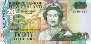 New Zealand / P-179a / 20 Dollars / ND (1992) / Rs blue