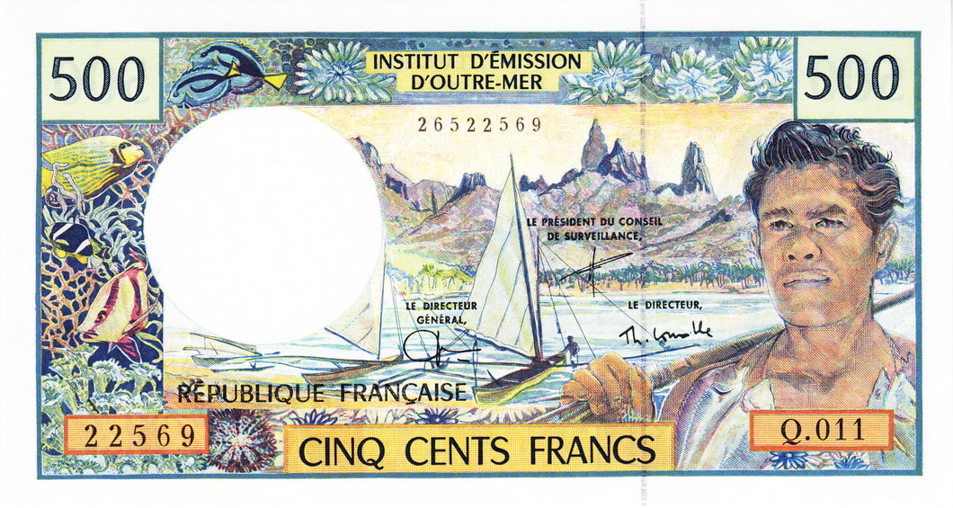 French Pacific Territories / P-1e / 500 Francs / ND (1992)