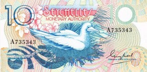 Seychelles / P-23a / 10 Rupees / ND (1979)