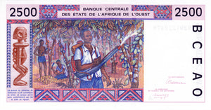West African States / Ivory Coast / P-112Aa / 2'500 Francs / (19)92