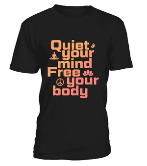 "T Shirt ""Quiet your mind"" Pour homme - L'univers-karma"