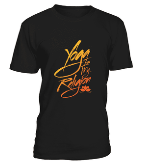 "T Shirt ""Yoga is my religion"" Pour homme - L'univers-karma"