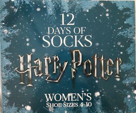 official harry potter 12 days of socks gift set 2017 advent womens in hand very rare