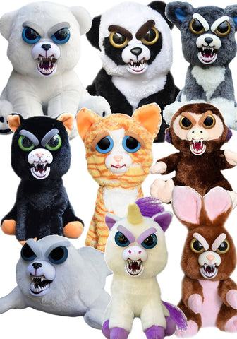 Feisty Pets Plush Stuffed Animals by William Mark-Many Varieties and Expressions-Plush-Milpapa's Toy Shop-Milpapa's Toy Shop