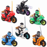 6 PCS Lego Ninjago Minifigure Set With Motorcycle-Minifigure-Milpapa's Toy Shop-Milpapa's Toy Shop