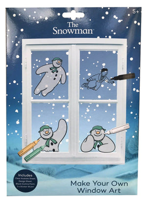 The Snowman Window Art